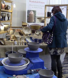 Wattlefield Pottery - Andrea Young - At a craft show (2)